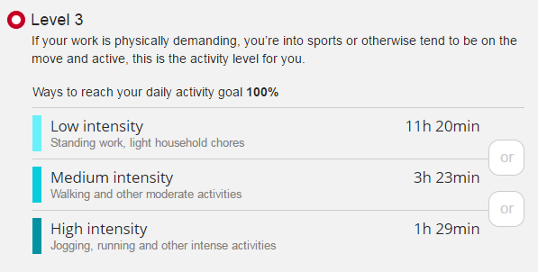 Polar Flow Daily Activity Goal
