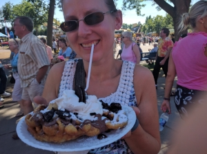 Not a red velvet funnel cake but still delicious!