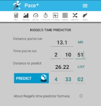 Marathon Time Predictor