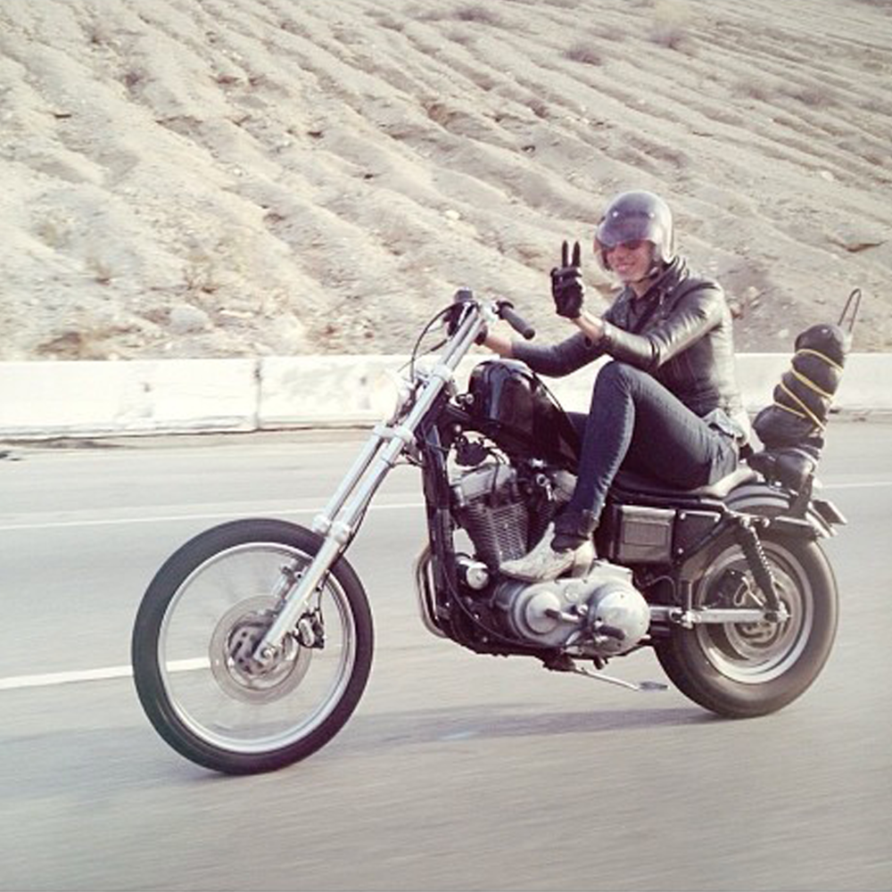 Cassandra Barragan - Burbank, California 2001 HD Sportster / 1995 Husaberg 350 / 1955 HD Panhead  Camera: All Nikon All Day