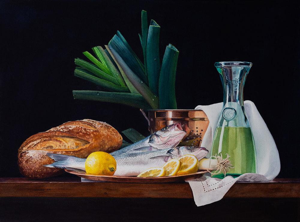 Bread, Fish, Wine