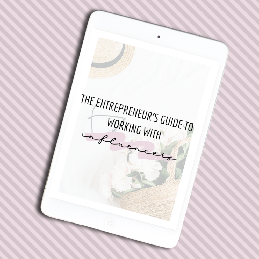 the entrepreneur's guide to working with social media influencers