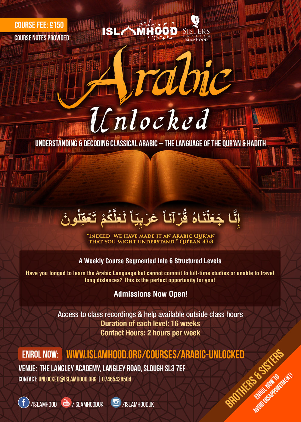 Arabic Unlocked Course Poster