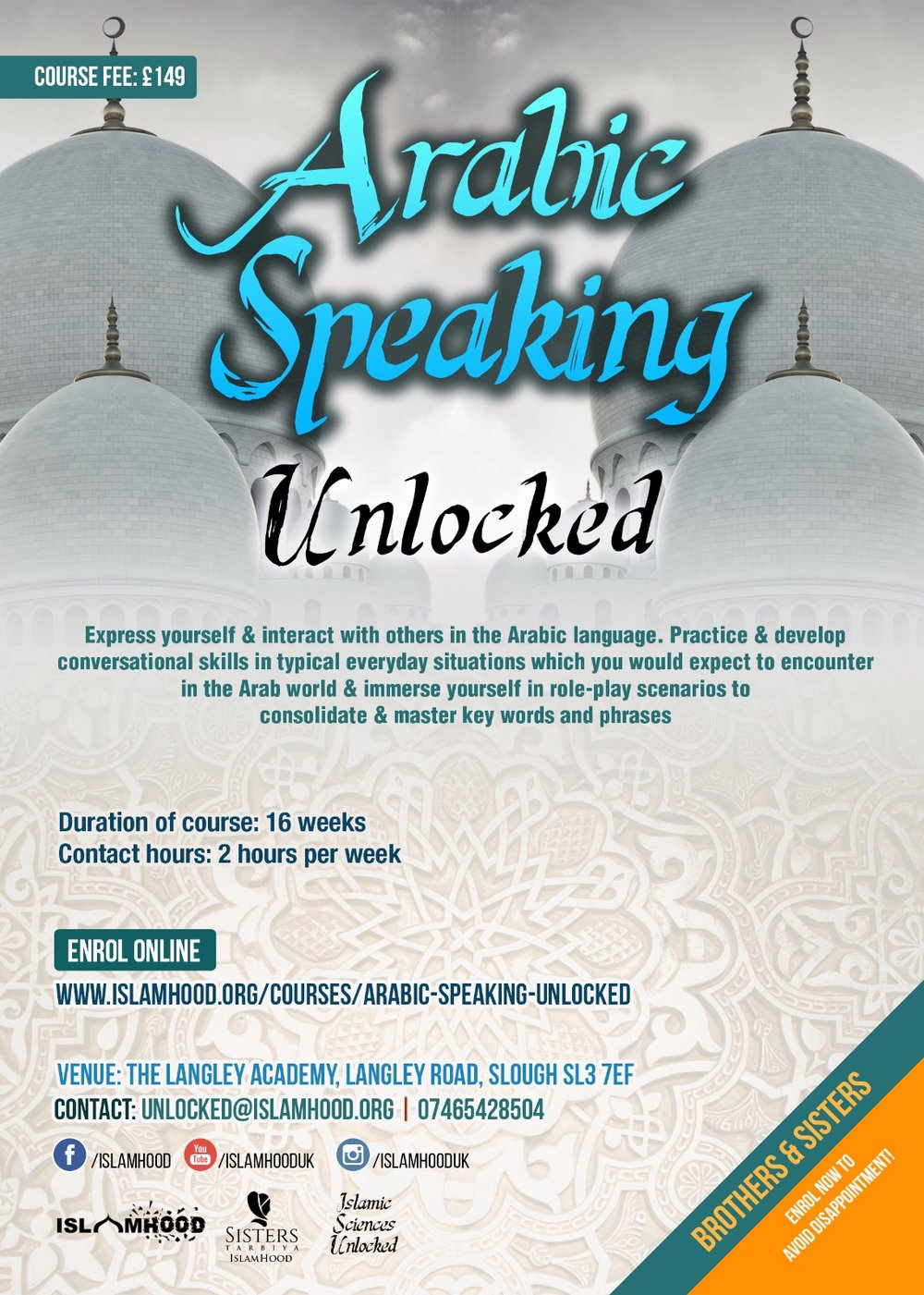 Arabic Speaking Unlocked Course Poster