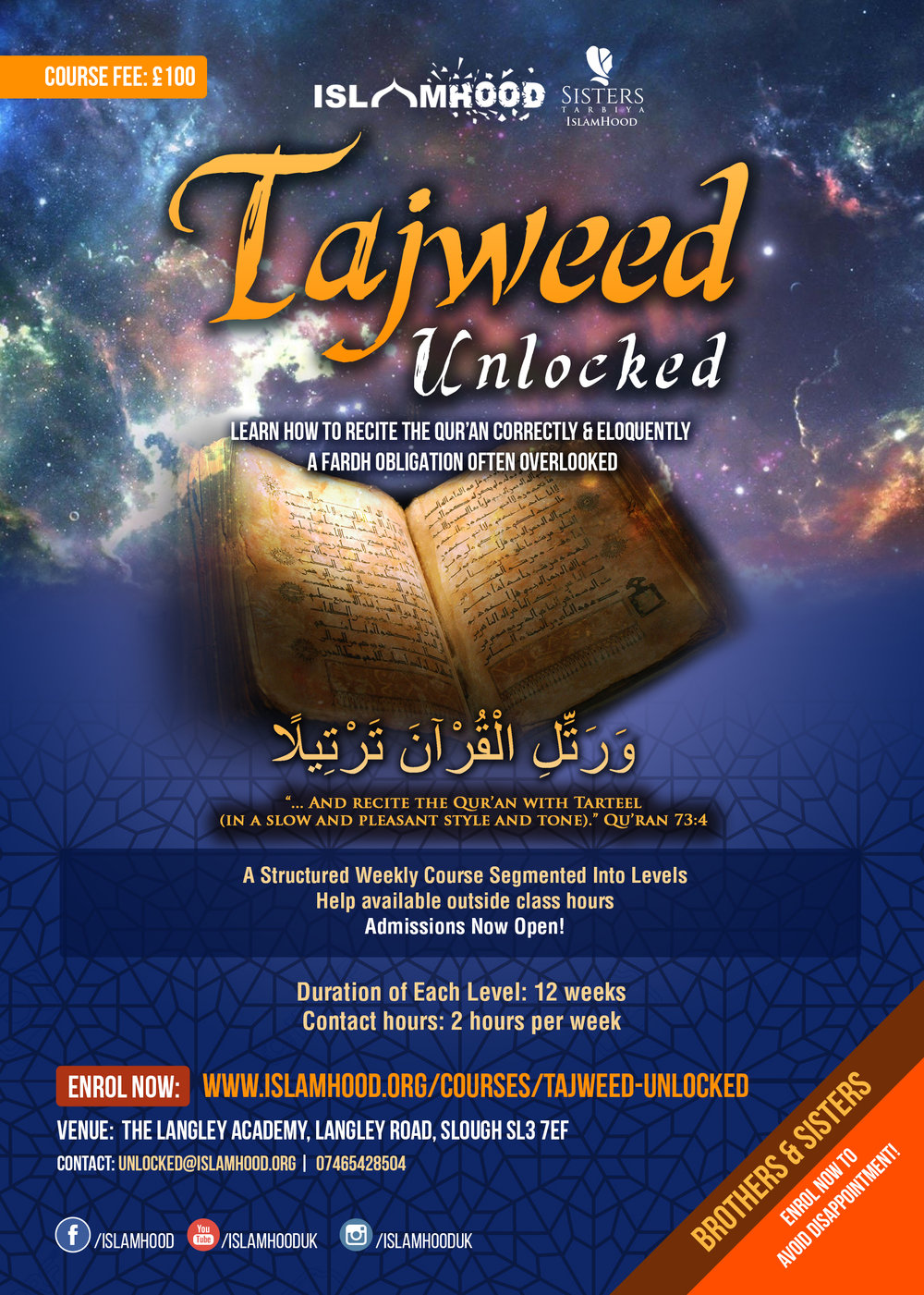 Tajweed Unlocked Course Poster