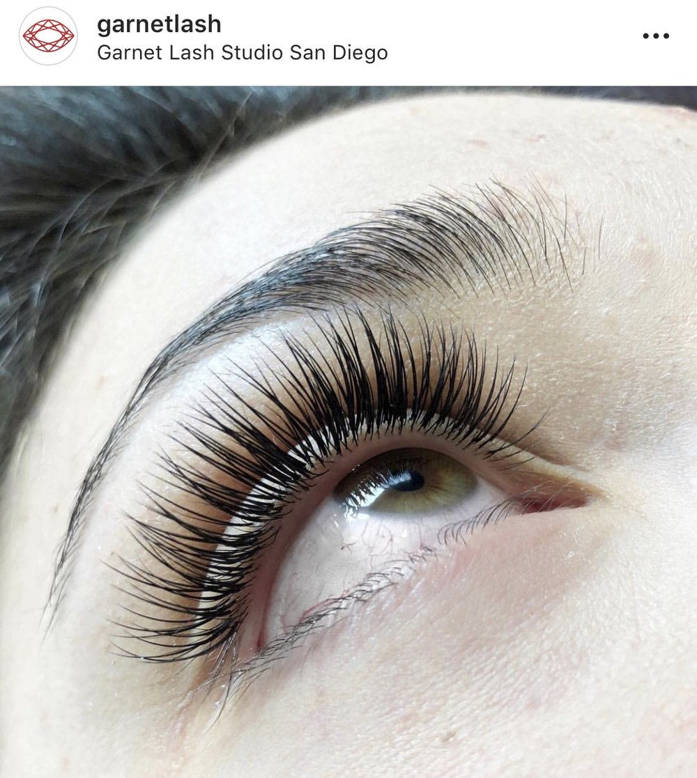 Services Garnet Lash Studios Classic Volume And Hybrid
