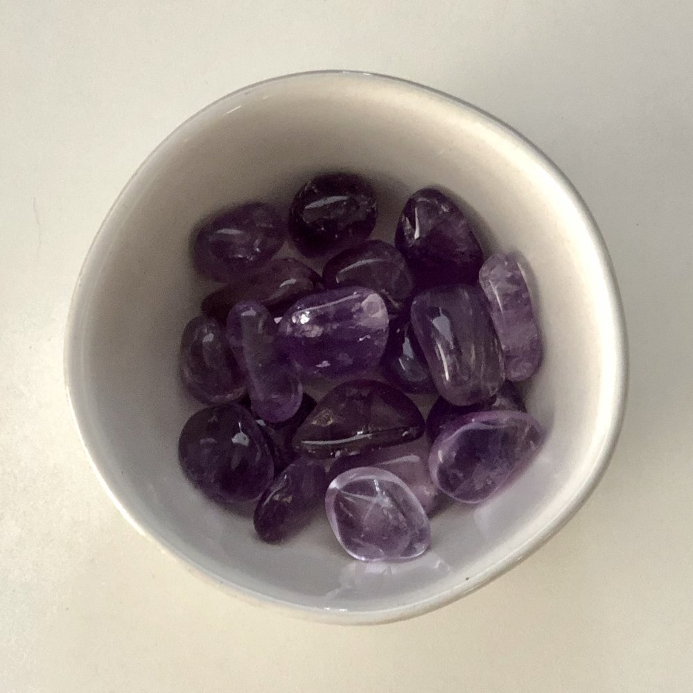 Amethyst    Chakra: Crown   Aides in healing, promotes emotion, and increases nervous system function   Price: $2.50