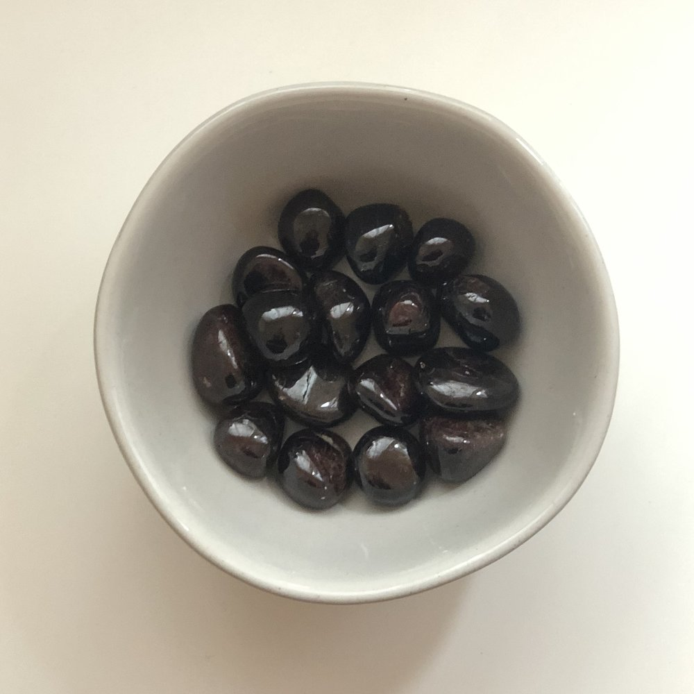 Garnet    Chakra: Root   Promotes love, purification, detoxification, and self empowerment.   Price: $2.50