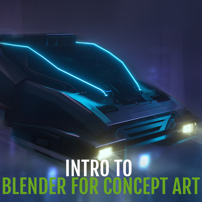 Intro to Blender 2 8 for Concept Art with Ben Gallego — Talent Tree Art  School