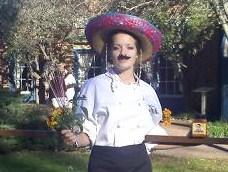 Chef Rosarita, Rockin' the 'Stachein the Garden of Berrets Restaurant in Williamsburg.