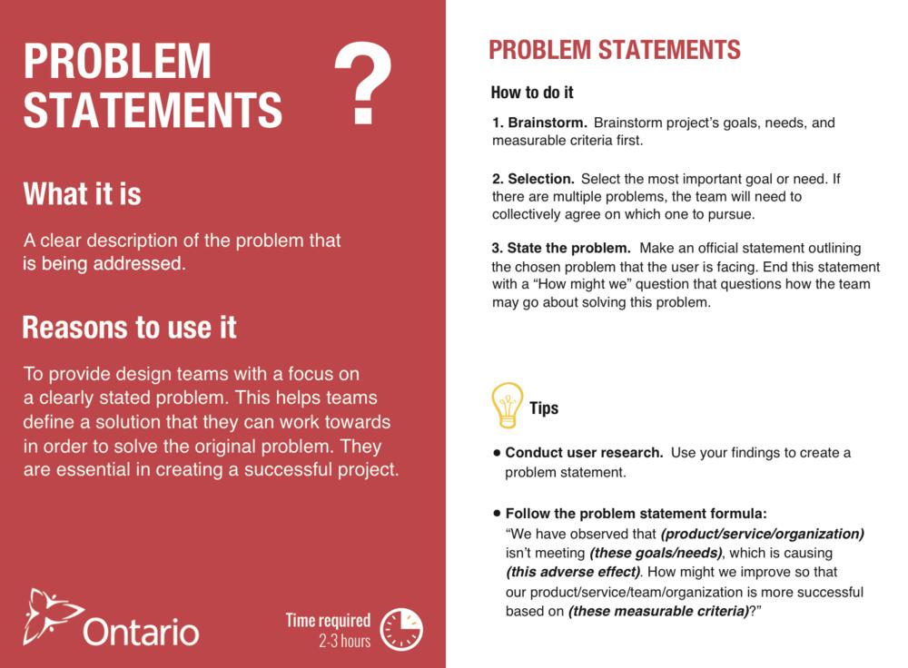 Problem Statements Card (version 1)