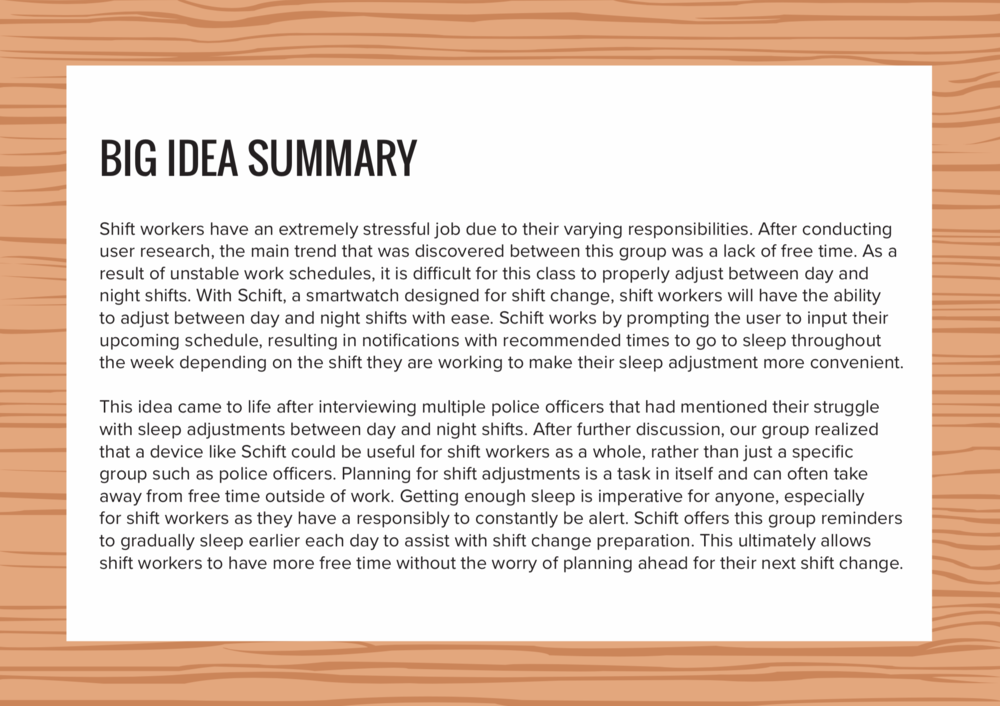 Big idea summary