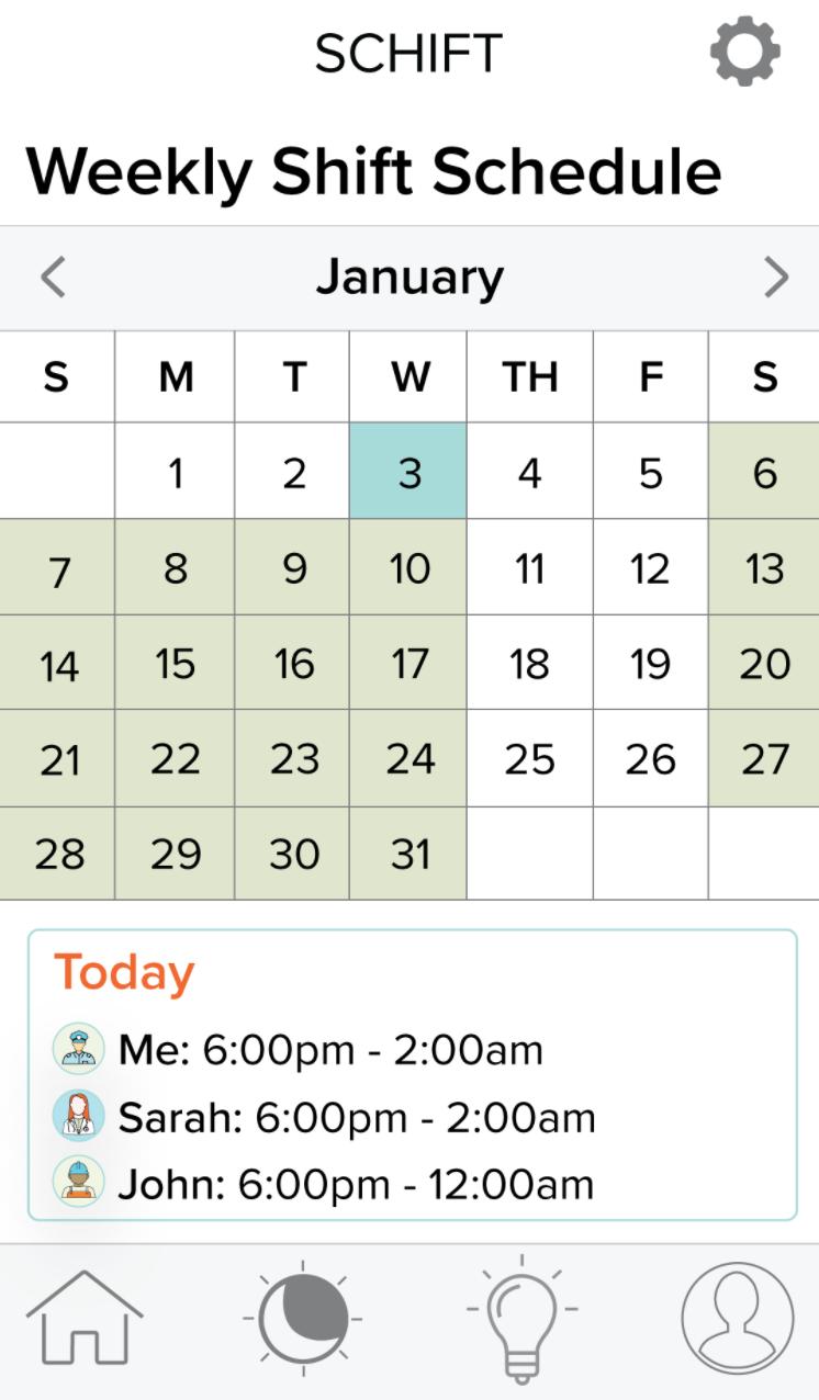 Schift app schedule input