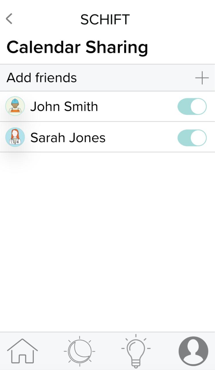 Schift app calendar sharing