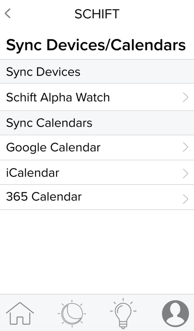 Schift app calendar sync