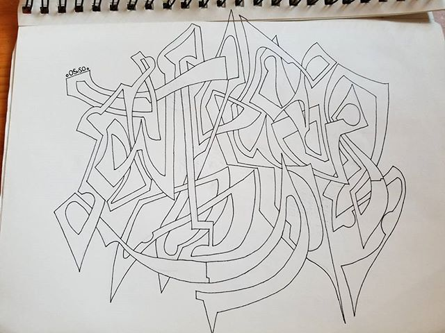 Abstract lines. Doesn't say anything....or does it?!....no. . . . . . #evaridae #madison #wisconsin #producer #art #graffiti #tags #piece #oldschool #highschool #lettering #abstractart #abstract #design #agameoftones #line #drawing