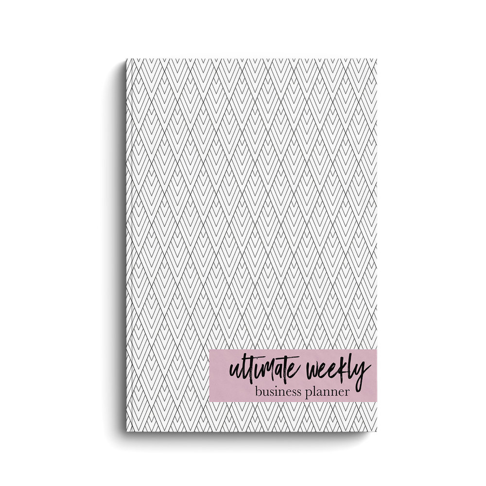 ULTIMATE WEEKLY BUSINESS PLANNER - Tired of carrying around 12 different notebooks trying to keep all of your to's and ideas together? This weekly, undated planner helps creatives to organize, plan & market their way through a successful year!