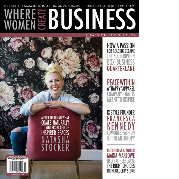 SUBSCRIPTION TO WHERE WOMEN CREATE BUSINESS - I have been reading this magazine for as long as I can remember! The magazine provides both practical advice and interviews from creative business owners from all over the country!