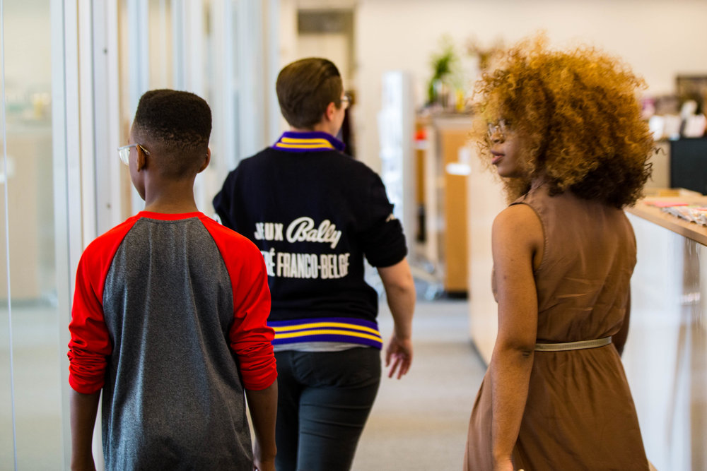 Winnie and son/client Sidney Keys III touring the offices of O Magazine in NYC!