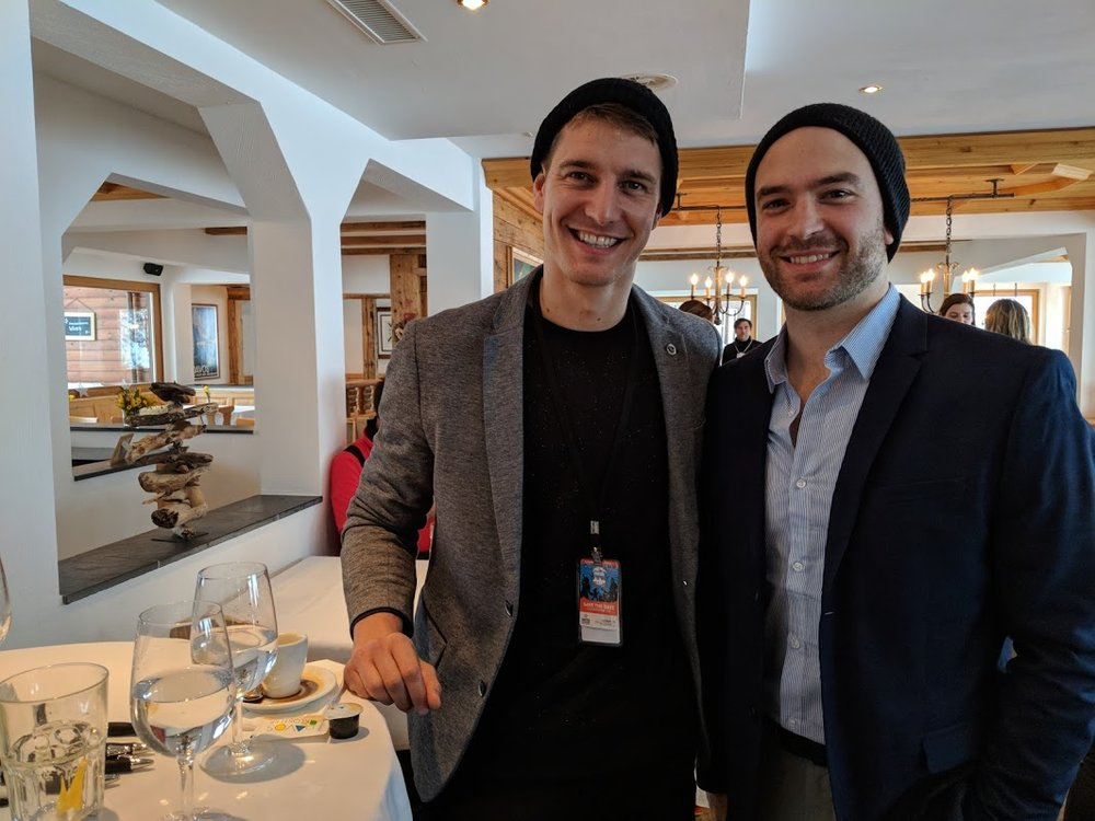 Julian Guderley & John Brancy during Davos WEF Summit 2018