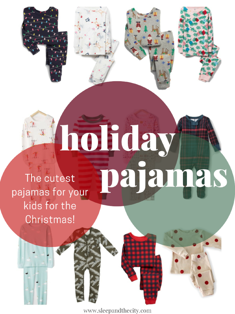 Holiday and Christmas Pajamas for Babies and Kids from Sleep & the City!