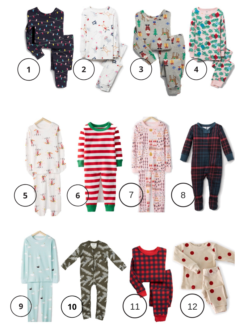 Holiday and Christmas pajamas for your kids babies and parents too!  From sleep and the city