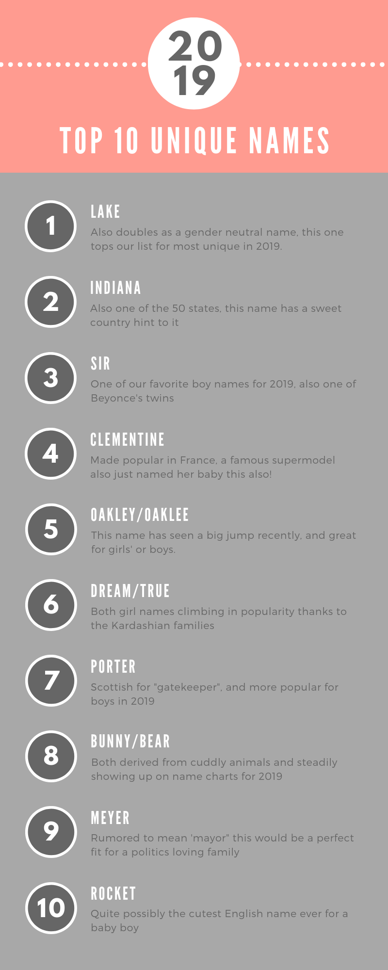 The 2019 Best Baby Names Girls Boys French Southern Unique And