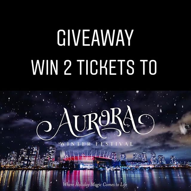 ☃️ 💥💥GIVEAWAY💥 💥⛄️ It's beginning to look a lot like Christmas... Ok, I know it's only November but I'm already in the holiday spirit of giving ....so with the help of Daily Hive Vancouver I'm giving away TWO tickets to the Aurora Winter Festival @aurorafestvan - a new Christmas themed attraction located at Concord Pacific Place, Vancouver. The holiday event will run from Nov 23-Dec 30, where you'll find market vendors, food trucks, live entertainment, a tubing park, outdoor skating rink, illuminations, ...and so much MORE. What a great way to ring in the holiday season!🎄🎄 ✨✨It's going to be magical ✨✨ To enter: ❄️Follow @dailyhivevancouver AND @foodiegramca. ❄️Tag a friend who you'd bring (unlimited entries allowed) ❄️Contest close - Nov 13, 11am. •••Winner will be contacted by DM••• *****GOOD LUCK!******* #giveaway #contest #dailyhivevan #AuroraFestVan #sponsored. • • • • • • • • • #foodiegram #vancouverfood #vancouvereats #yvrfoodie #yvrfood #vancityfood #604eats #yvreats #narcityvancouver #eatcouver #vancouverfoodie #vancitylife #curiocityvan #foodcouver #vancityeats  #igvancouver #foodblogger #vanfoodie #vancitybuzz #dishedvan #dhvanfood #vancouver