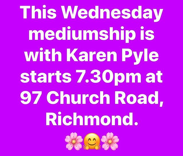 #psychicmedium #psychicreadings #rsc #spiritualistmedium #richmondspiritualistchurch 💕💕💕