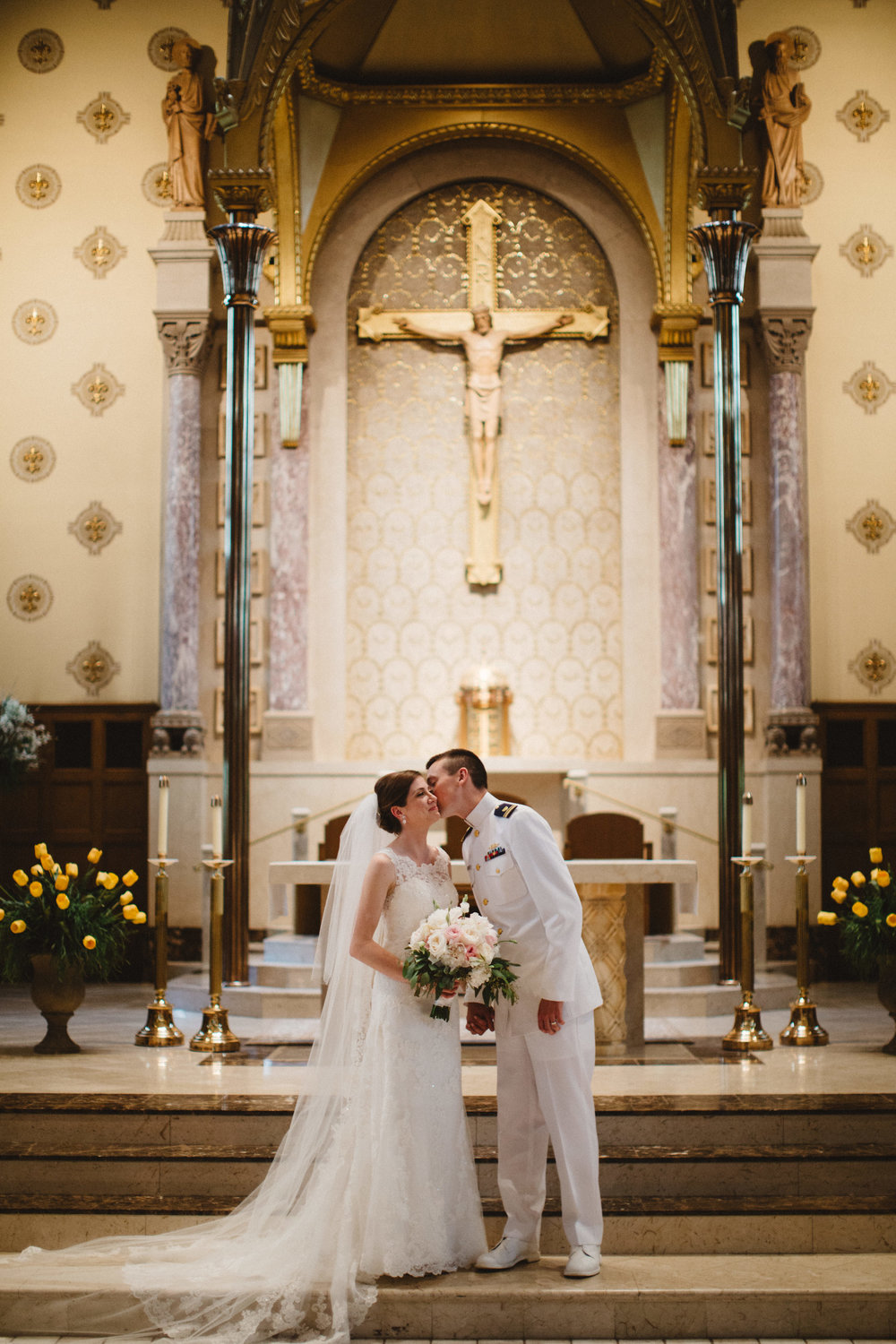 Caroline and Brad's ceremony was held at St. Charles Borromeo Church.