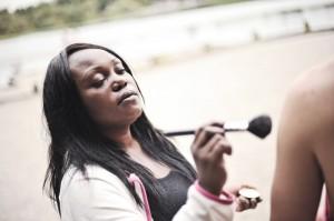 Makeup artisit Jackie Pierre
