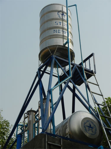 A water tower in rural Cambodia, from K.I.D.S