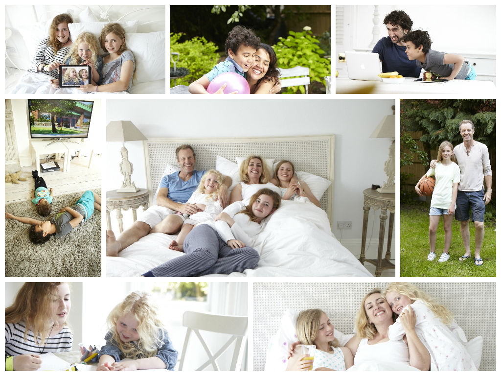Real Families collage
