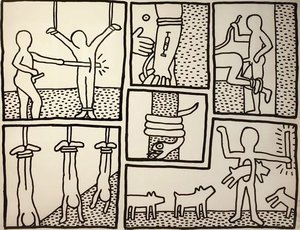 Keith haring marcel katz art untitled i from blueprint series by keith haring malvernweather Image collections