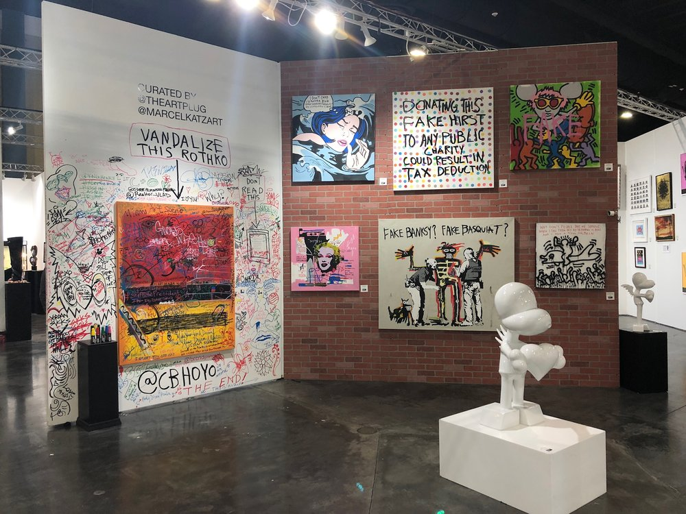 CB Hoyo featured at Marcel Katz: The Art Plug's booth at Art Palm Beach 2018.