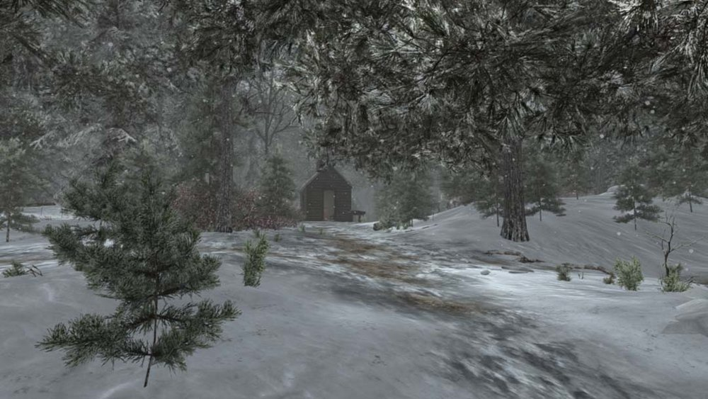 Early Winter Cabin in Snowfall.jpg