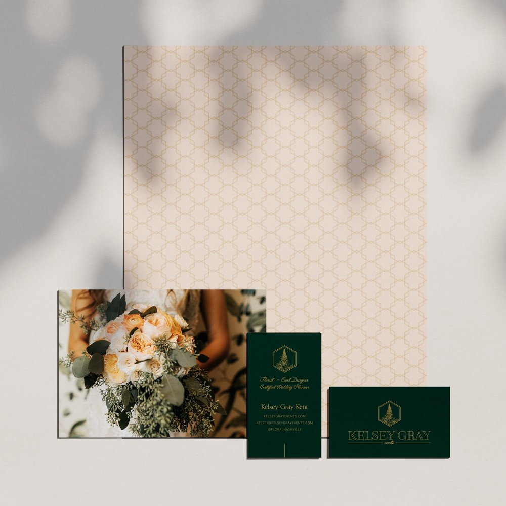 Kelsey Gray Events    Brand Identity Design, Custom Illustration