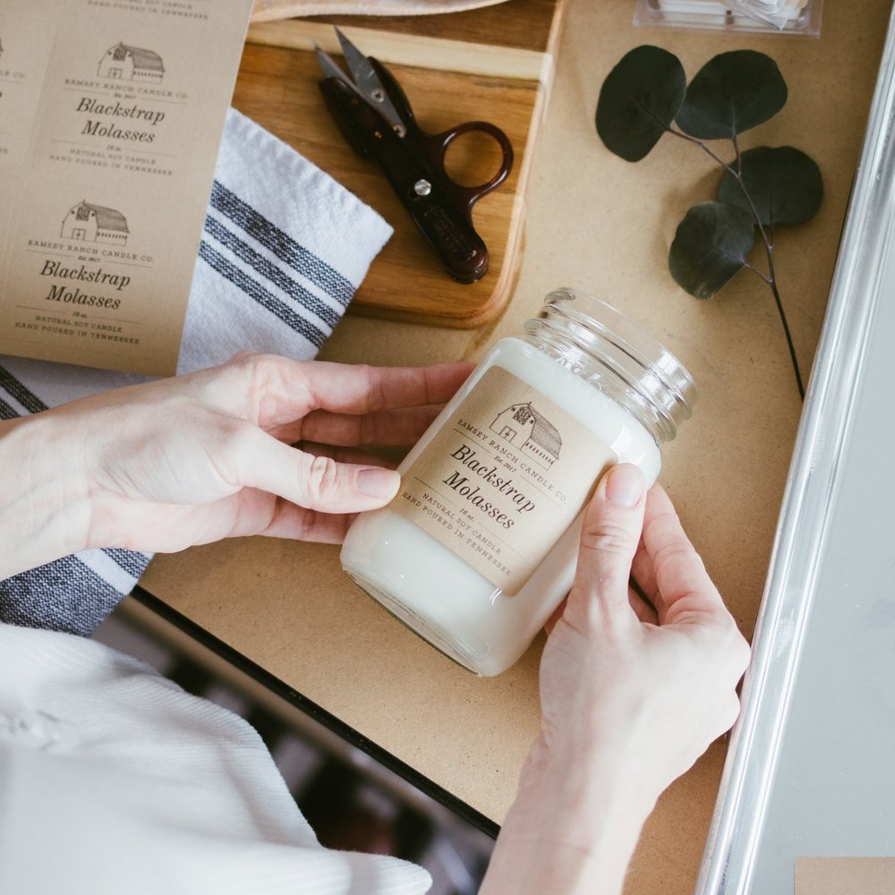 Ramsey Ranch Candle Co.    Brand Identity Design, Brand Photography
