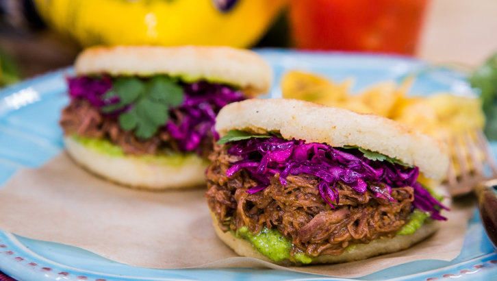 - Venezuelan Arepas with shredded beef.Items we carry for this dish: arepa mix, seasonings & spices
