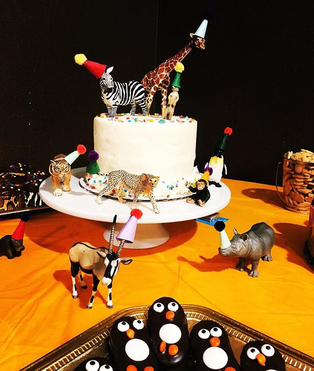Party like an animal! 🦓🦍🐆🦒🐋🐼🎉 #sundayscakery #cbusfoodscene #partyanimals #zooparty