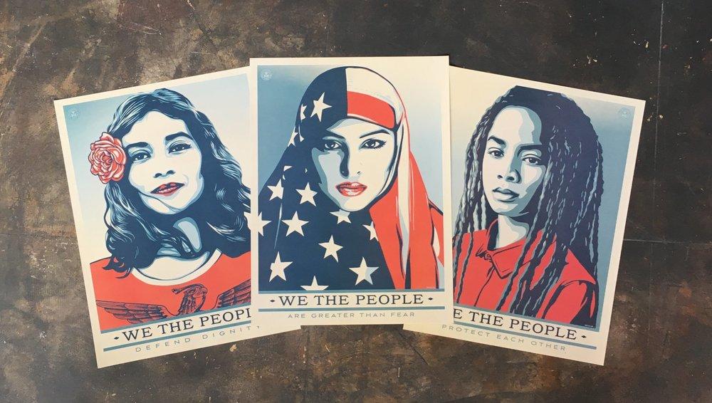 """Fairey, Shepard. """"We the People"""". 2017. www.amplifier.org"""