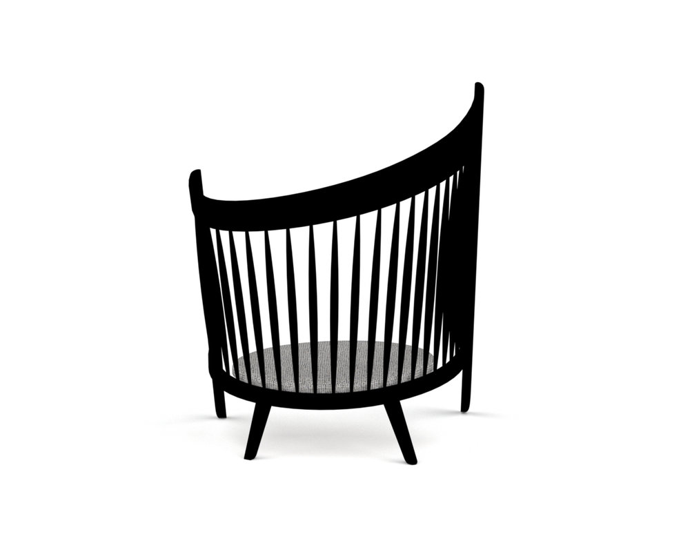 Rendered chair image with light grey seat