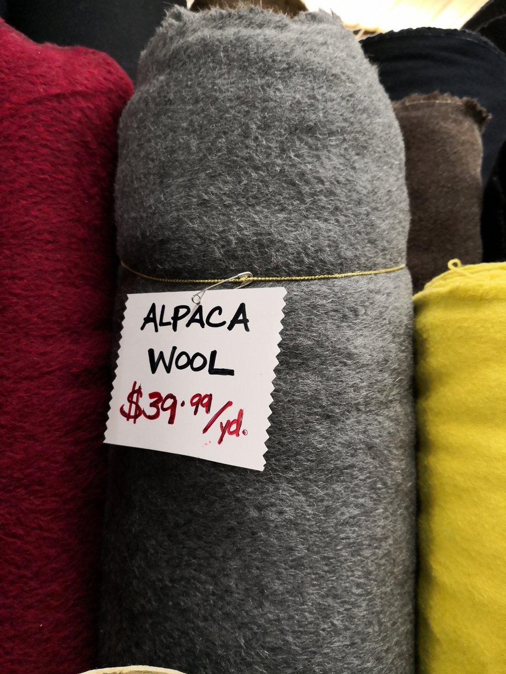Alpaca wool at King Textile