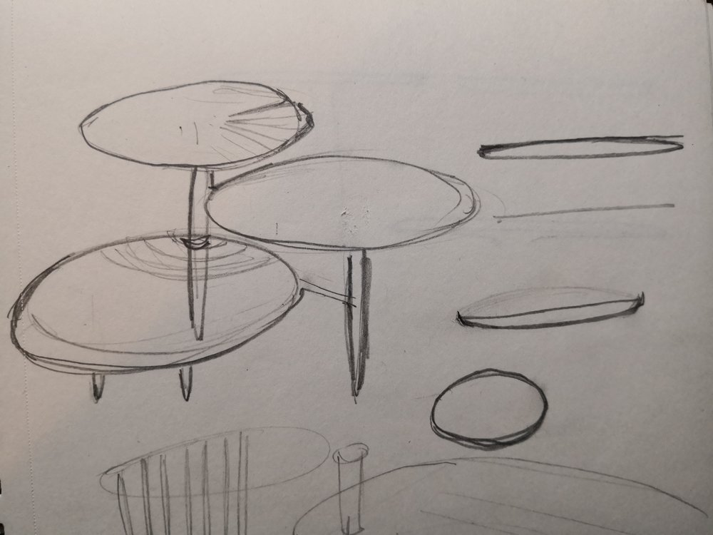 Sketches for sidetable