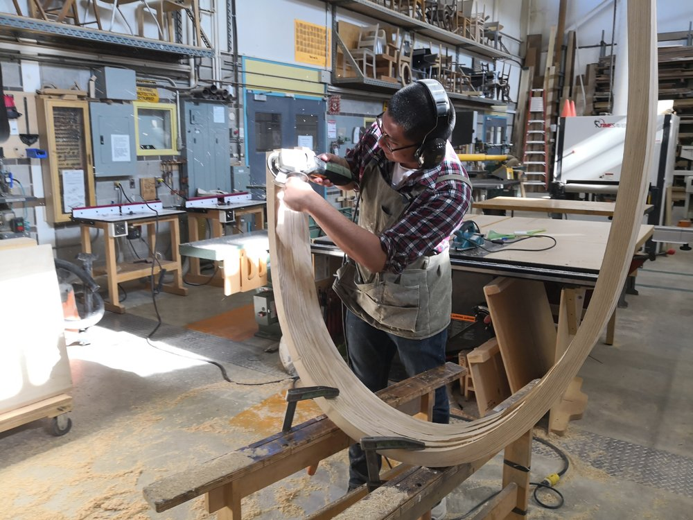 Power shaping head rest lamination