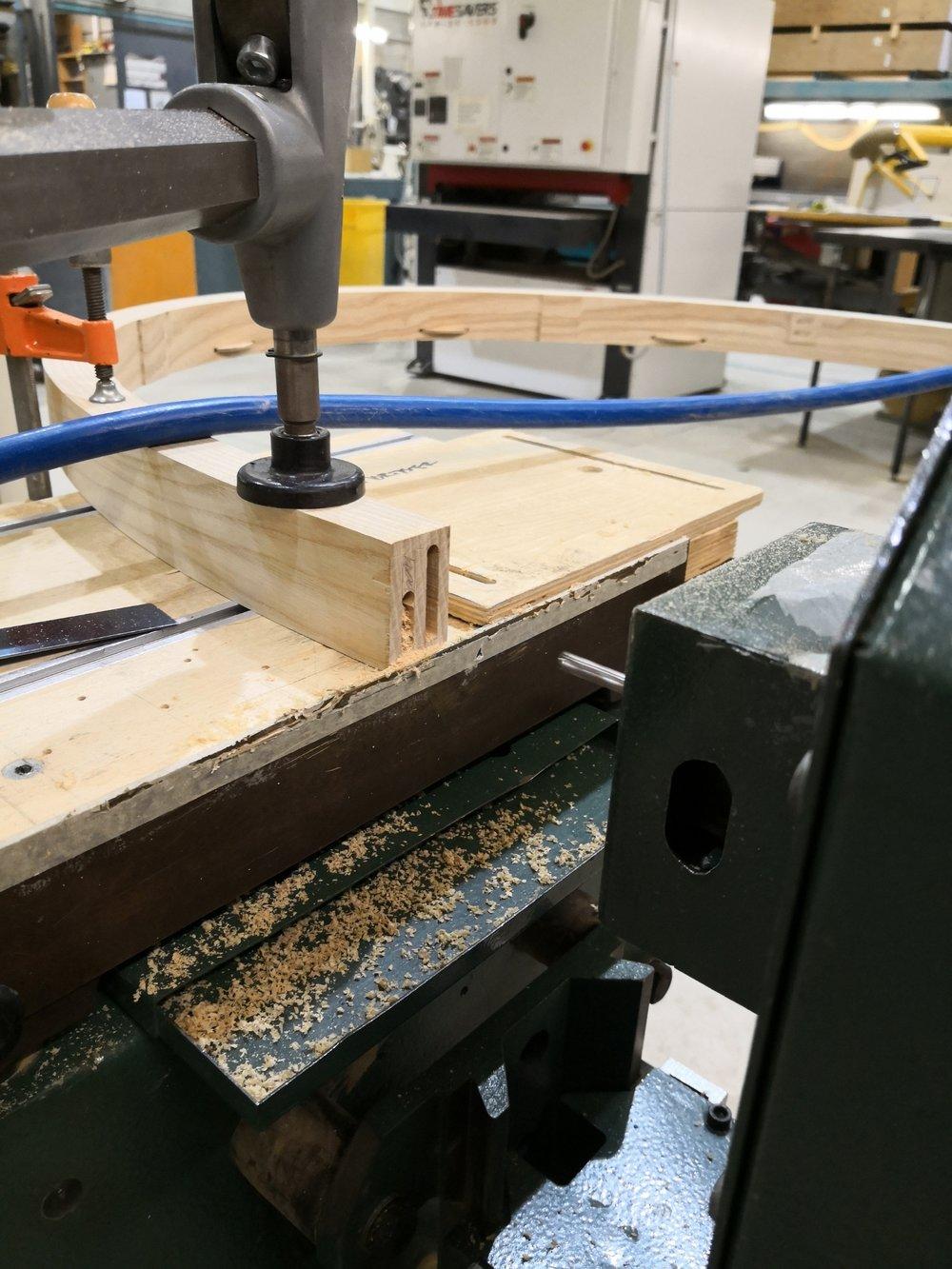 Cutting bottom rail mortise