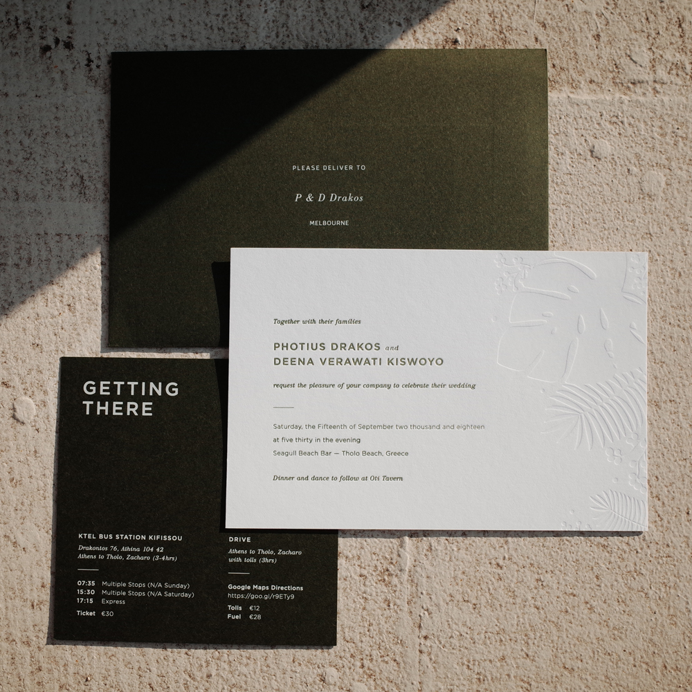 Tropica Weddings - Invitations