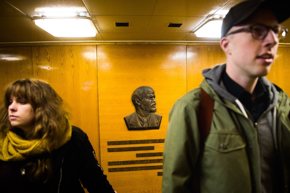 Ombord atomisbrytaren Lenin i Murmansk. Foto:   Simon Eliasson