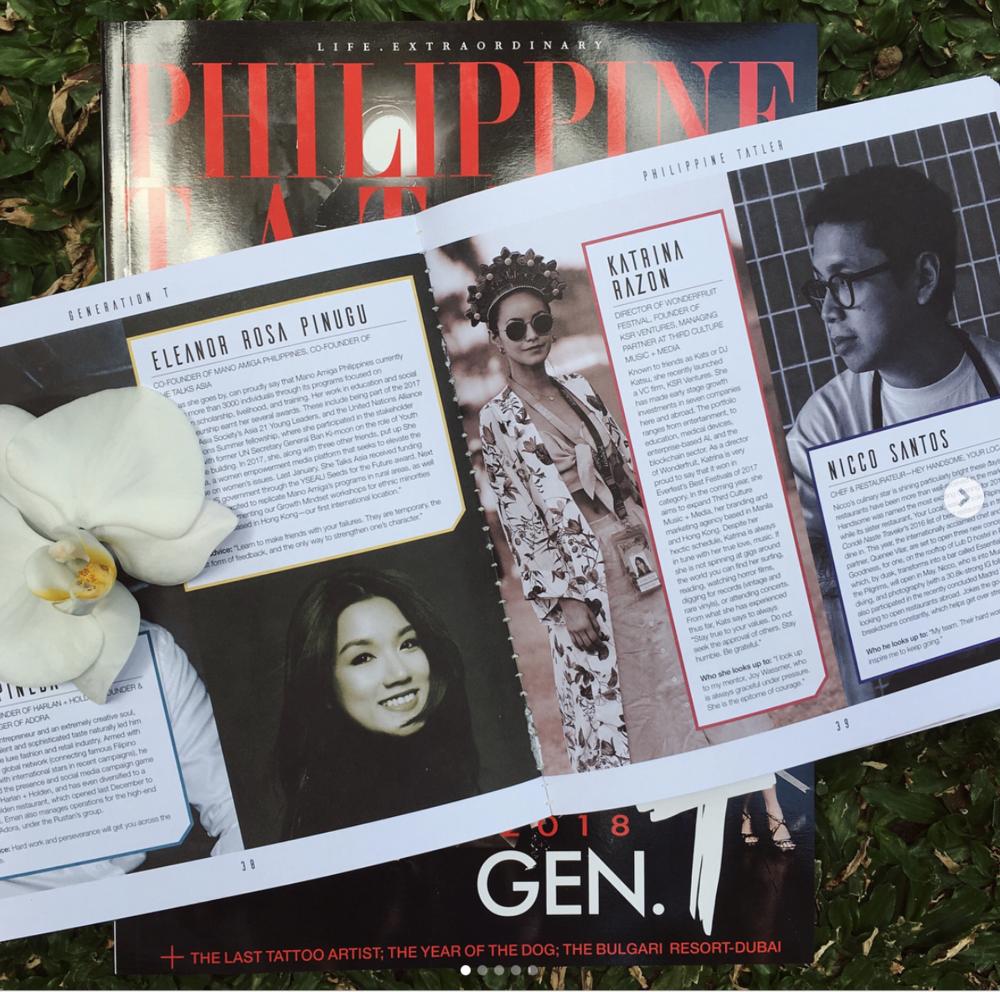 Philippine Tatler, 2018 Gen T