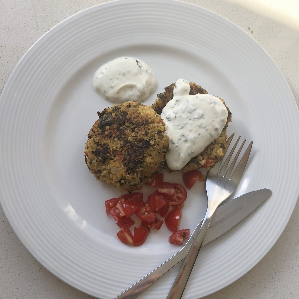 Quinoa Burgers by The Green Heart Grocer... yum yum!!